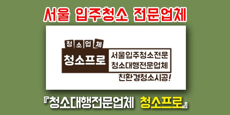 서울입주청소업체 『청소프로』