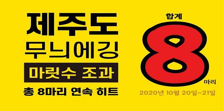 제주 무늬오징어 에깅 10월 정기출조 8마리 연속히트영상 『등낚골』